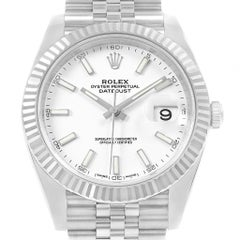 Rolex Datejust 41 Steel White Gold Men's Watch 126334 Box Card