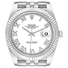 Rolex Datejust 41 Steel White Gold White Dial Mens Watch 126334