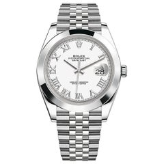 Rolex Datejust 41 Steel White Roman Dial Jubilee Automatic Men's Watch 126300