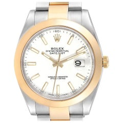 Rolex Datejust 41 Steel Yellow Gold Domed Bezel Men's Watch 126303