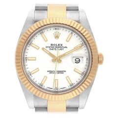 Rolex Datejust 41 Steel Yellow Gold White Dial Men's Watch 126333