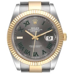 Rolex Datejust 41 Steel Yellow Gold Wimbledon Men's Watch 126333 Box Card