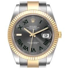 Rolex Datejust 41 Steel Yellow Gold Wimbledon Men's Watch 126333 Box Card