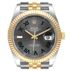 Rolex Datejust 41 Steel Yellow Gold Wimbledon Men's Watch 126333 Unworn