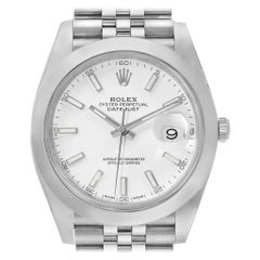 Rolex Datejust 41 White Dial Jubilee Bracelet Steel Men's Watch 126300
