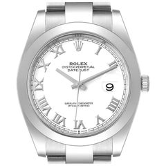 Rolex Datejust 41 White Dial Stainless Steel Mens Watch 126300 Box Card