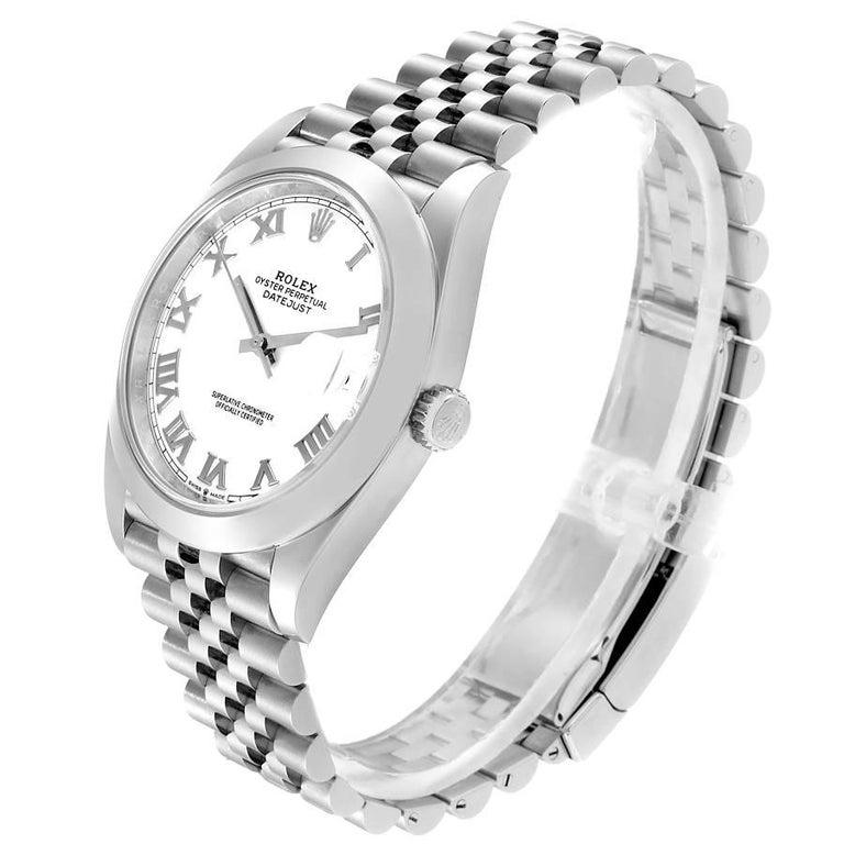 Rolex Datejust 41 White Dial Steel Men's Watch 126300 Box Card Unworn For Sale 1