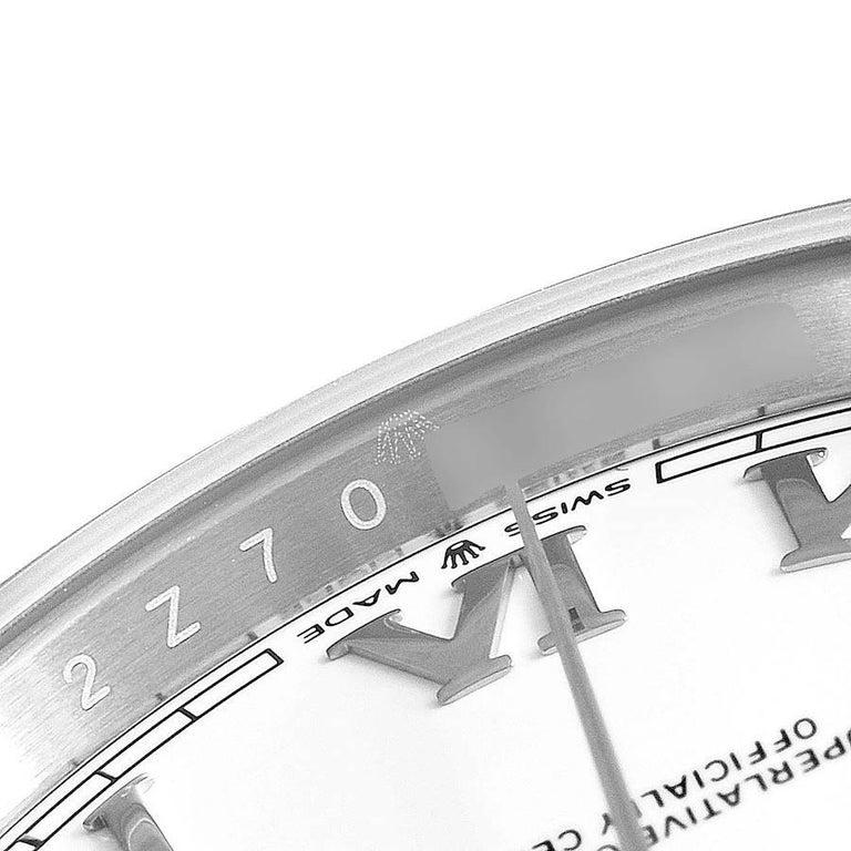 Rolex Datejust 41 White Dial Steel Men's Watch 126300 Box Card Unworn For Sale 3