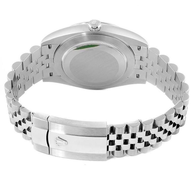 Rolex Datejust 41 White Dial Steel Men's Watch 126300 Box Card Unworn For Sale 4