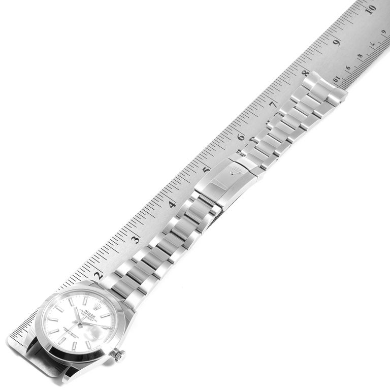 Rolex Datejust 41 White Dial Steel Men's Watch 126300 Box Papers 7