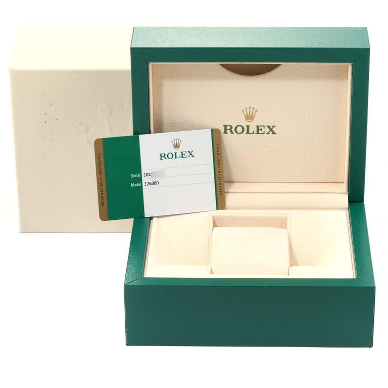 Rolex Datejust 41 White Dial Steel Men's Watch 126300 Box Papers 9