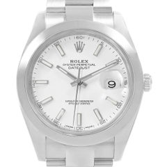 Rolex Datejust 41 White Dial Steel Men's Watch 126300 Box Papers