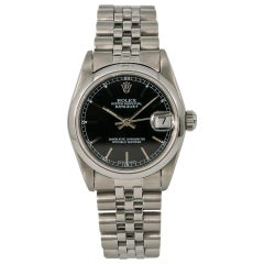 Rolex Datejust 68240 Women Automatic Watch Black Dial Stainless Steel