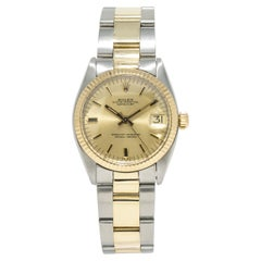 Rolex Datejust 6827, Gold Dial, Certified and Warranty