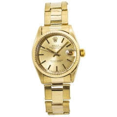 Rolex Datejust 6827 Oyster 14K Yellow Gold Midsize Automatic Watch