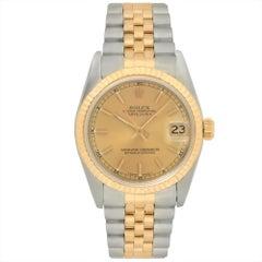 Rolex Datejust 68273 Midsize 31Mm 18K Two Tone Jubilee