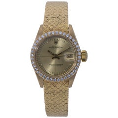 Rolex Datejust 6900, Gold Dial, Certified and Warranty