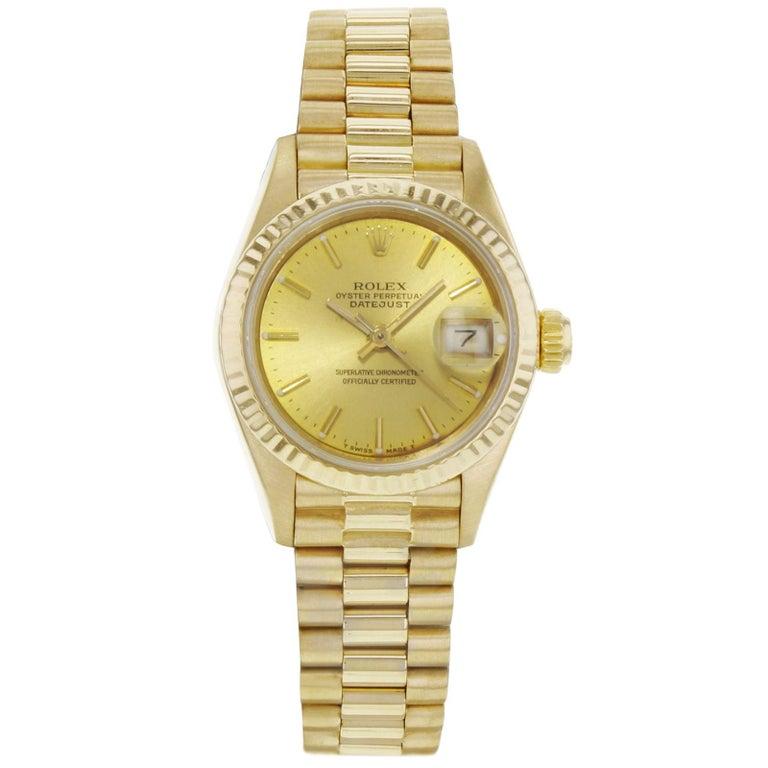 rolex datejust 69138 18 karat yellow gold 1986 president. Black Bedroom Furniture Sets. Home Design Ideas