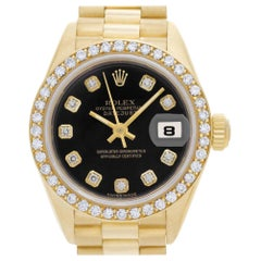 Rolex Datejust 69138, Black Dial, Certified and Warranty