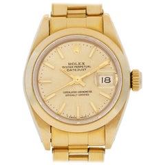 Rolex Datejust 6916 18 Karat Champagne Dial Automatic Watch