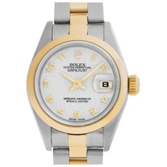 Rolex Datejust 69163 Stainless Steel White Dial Automatic Watch