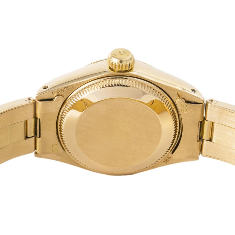 Women's Rolex Datejust 6917 Gold Dial 18K Yellow Gold Automatic Lady's Watch For Sale