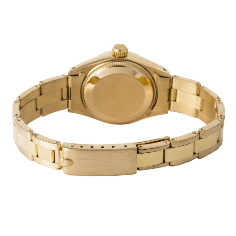 Rolex Datejust 6917 Gold Dial 18K Yellow Gold Automatic Lady's Watch For Sale 1