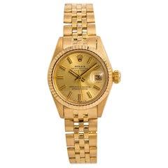 Rolex Datejust 6917 Jubilee Womens Automatic Vintage Watch 18 Karat Yellow Gold