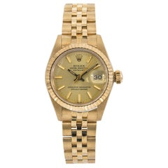 Rolex Datejust 6917 Ladies Automatic Watch 18 Karat Gold Champagne with Papers