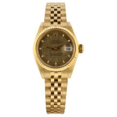 Rolex Datejust 6917, Millimeters Gold Dial, Certified and Warranty