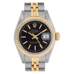 Rolex Datejust 69173 18 Karat Black Dial Automatic Watch