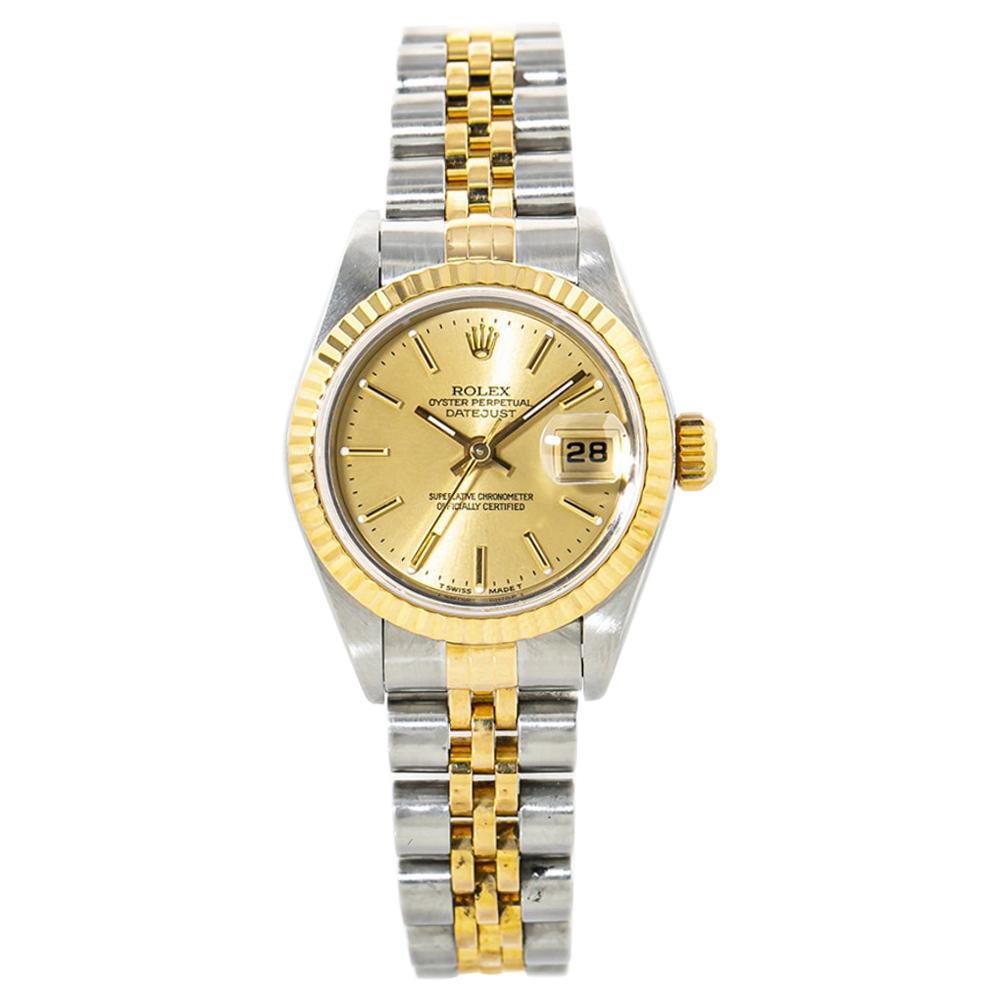 Rolex Datejust 69173 18k Yellow Gold Automatic Ladies Watch Box/Paper