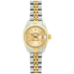 Rolex Datejust 69173, Champagne Dial, Certified and Warranty