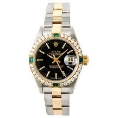 Rolex Datejust 69173 Automatic Womens Watch 18k Two-Tone 1 Carat Diamond Bezel