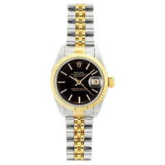 Rolex Datejust 69173, Black Dial, Certified and Warranty
