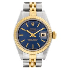 Rolex Datejust 69173, Blue Dial, Certified and Warranty