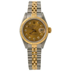 Rolex Datejust 69173, Gold Dial, Certified and Warranty