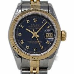 Rolex Datejust 69173 Stahl Gelbgold Blau Jubilee 1993 2 Jahre Garantie #654