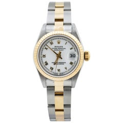 Rolex Datejust 69173 Two-Tone Steel 18 Karat Gold Auto Ladies Watch with Papers