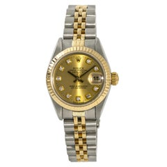 Rolex Datejust 69173 Women's Automatic Two-Tone Stainless Steel Diamond Dial