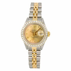 Rolex Datejust 69173 Women's Automatic Watch Champagne Dial Two-Tone SS