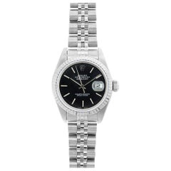 Rolex Datejust 69174, Black Dial, Certified and Warranty