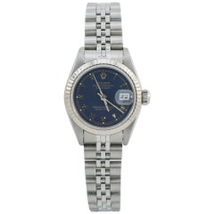Rolex Datejust 69174, Blue Dial, Certified and Warranty