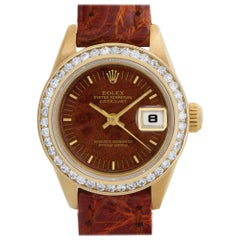 Rolex Datejust 69178 18 Karat Yellow Gold Brown Dial Automatic Watch