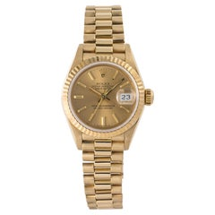 Rolex Datejust 69178, Gold Dial, Certified and Warranty
