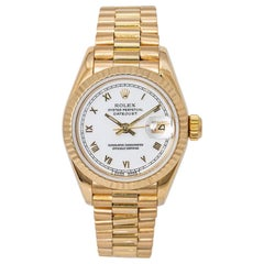 Rolex Datejust 69178 Ladies President Automatic Watch 18 Karat Yellow Gold