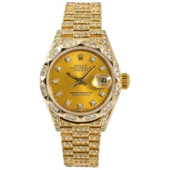 Rolex Datejust 69278, Gold Dial, Certified and Warranty