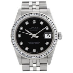 Rolex Datejust 78274, Black Dial, Certified and Warranty