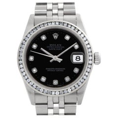 Rolex Datejust 78274 Stainless Steel Black Dial Automatic Watch