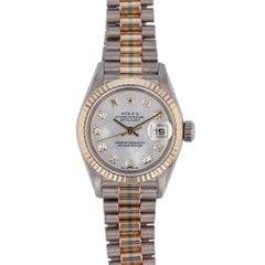 Rolex Datejust 79179 with Band, Yellow-Gold Bezel and Diamond Dial